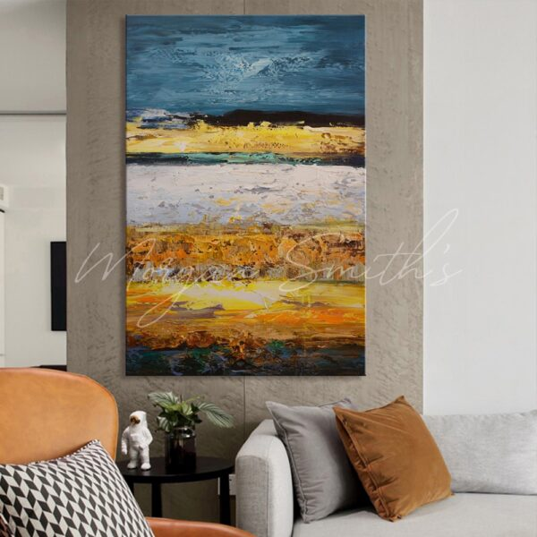 Modern Abstract Landscape Oil Painting on Canvas
