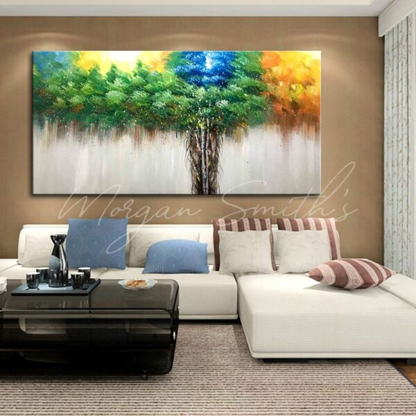 Abstract Tree of Life Oil Painting on Canvas