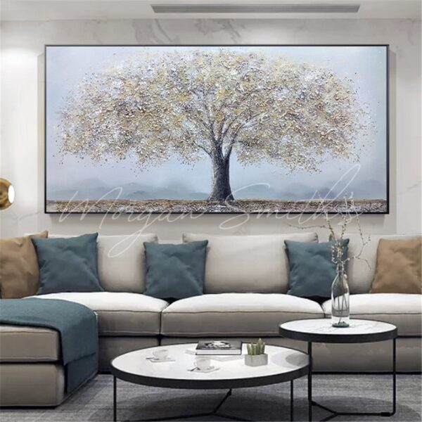 Large Format Mature Tree Landscape Oil Painting on Canvas
