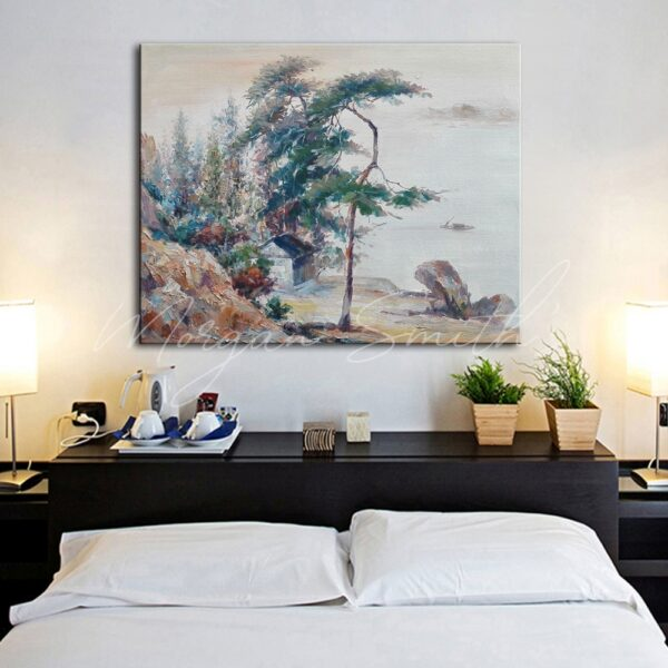 Shan Shui Chinese Landscape Oil Painting on Canvas