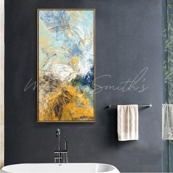Large Scale Abstract Oil Painting on Canvas