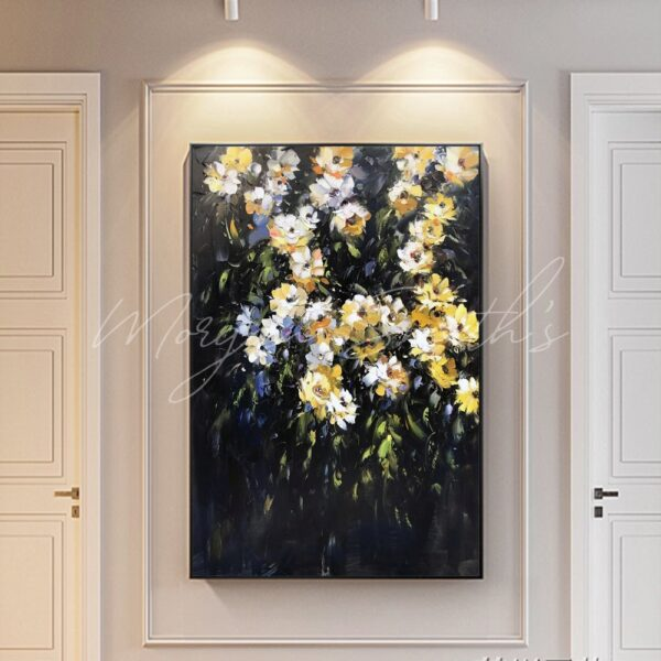 Classic Style Wild Flowers Oil Painting on Canvas