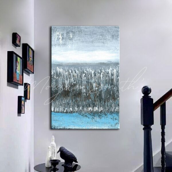 Large Abstract Landscape Scenery Oil Painting on Canvas