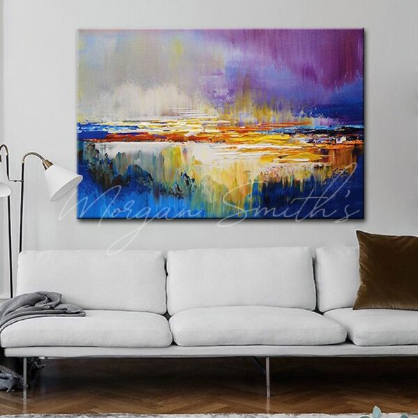 Abstract Landscape Scenery Oil Painting on Canvas