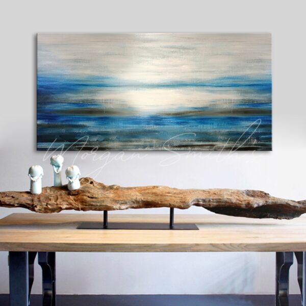 Abstract Sky & Sea Scenery Oil Painting on Canvas