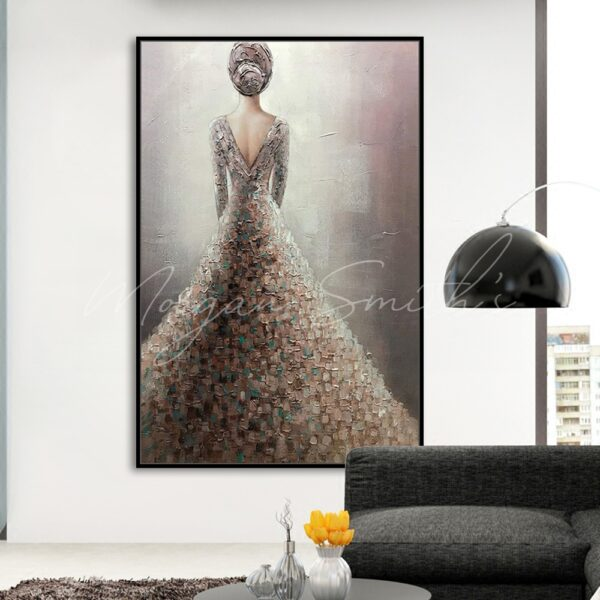 The Girl in The Wedding Dress Oil Painting on Canvas