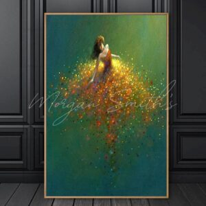 Abstract Dancing Girl Oil Painting on Canvas