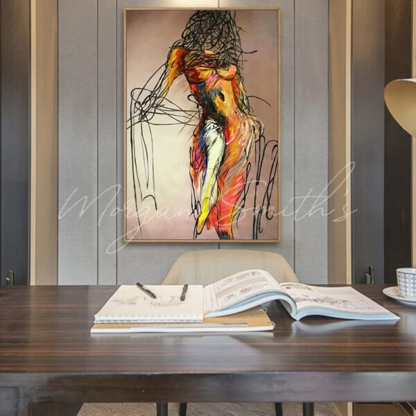 Abstract Female Figure Oil Painting on Canvas