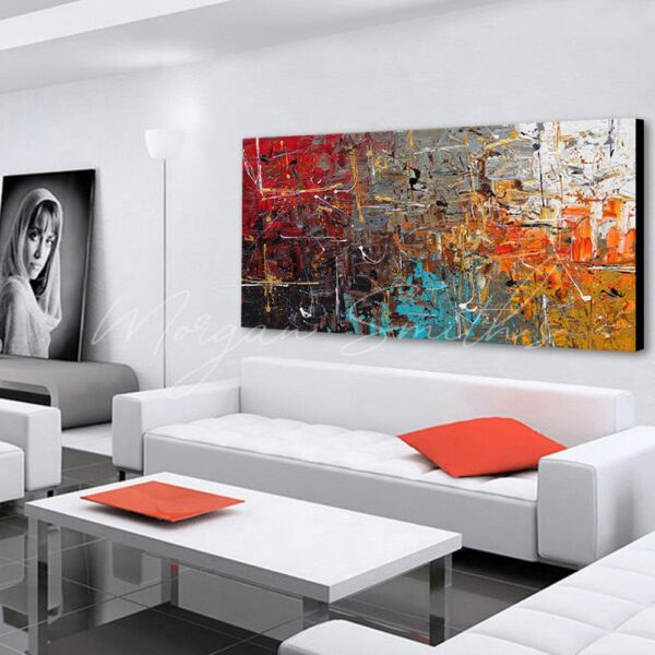 Abstract Multi-Colour Oil Painting on Canvas