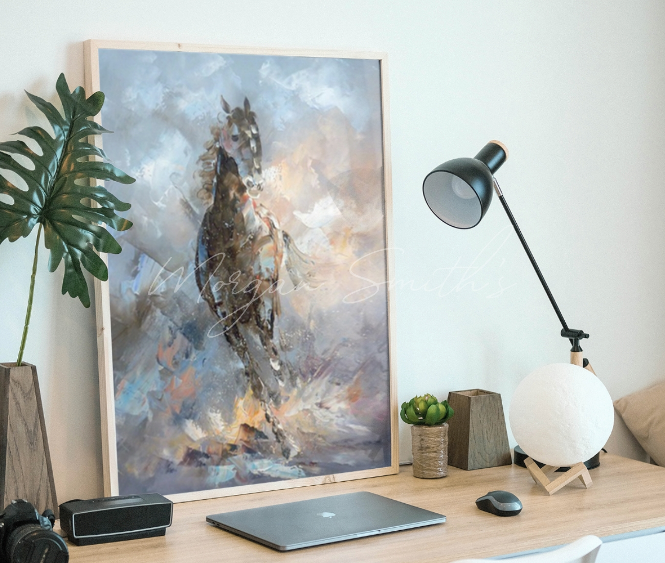 Abstract Horse Oil Painting On Canvas Morgan Smith S